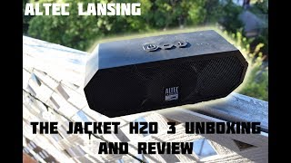 Altec Lansing The Jacket H2O 3 Bluetooth Speaker Unboxing and Sound Check