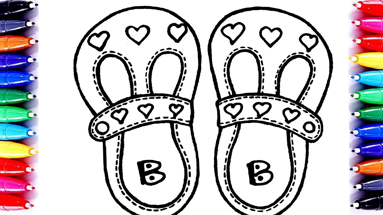 Barbie Sandals Coloring Pages