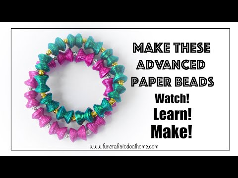 Paper Jewellery Making - Advanced Paper Beads Tutorial - Make Diablo Beads From Paper (2019)