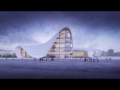 Simulation of an Architectural Project , Zaha Hadid /Heydar Aliyev Center (3D Animation)