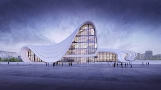 Simulation of an Architectural Project , Zaha Hadid /Heydar Aliyev Center (3D Animation)