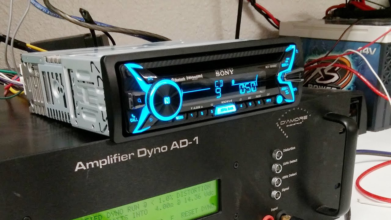 sony mex xb100bt amplified car stereo dyno test smd d amore ad 1 rh youtube com Sony Radio Wiring Harness Sony Radio Wiring Harness