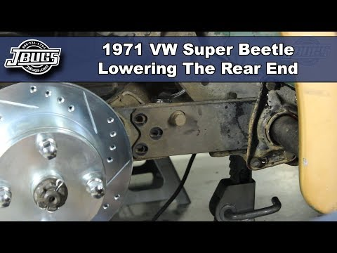 JBugs - 1971 VW Super Beetle - Lowering the Rear End