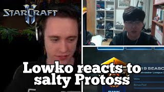 Daily Starcraft Highlights: Lowko reacts to salty Protoss