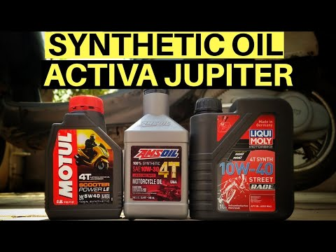 BEST SYNTHETIC ENGINE OIL FOR SCOOTER! ACTIVA JUPITER MOTUL LIQUI MOLY AMSOIL CITY HIGHWAY REVIEW