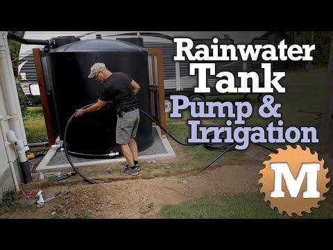 Rainwater Harvesting Tank - Water Pump & Irrigation Piping