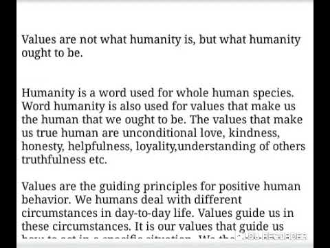 Values Are Not What Humanity Is, But What Humanity Ought To Be (Essay CSE 2019)