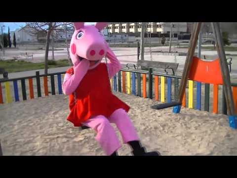 peppa pig  en el parque