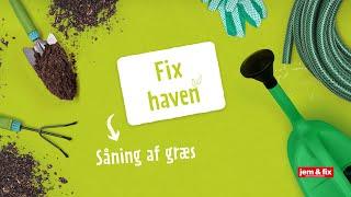 jem & fix - Såning af græsplæne