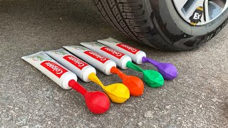 Experiment Car vs Toothpaste and Balloons | Crushing Crunchy & Soft Things by Car | Test Ex