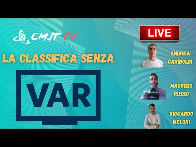 🔴CMIT TV - Classifica senza VAR, dove sarebbero Inter e Juventus!