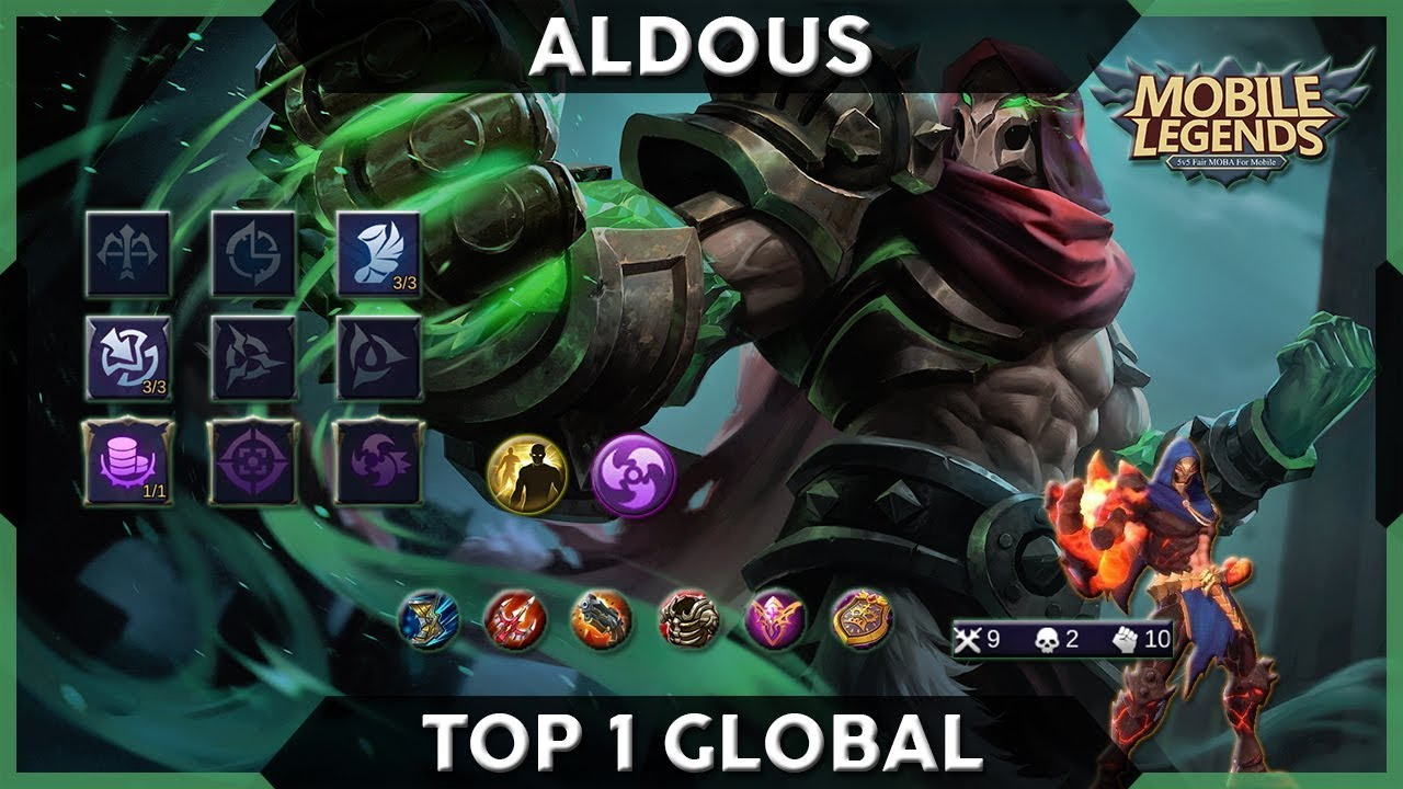 Top 1 Global Aldous  Red Mantle  Gameplayu0026Build  Mobile Legends