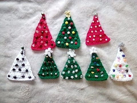 How to Crochet Christmas Tree Pattern - YouTube