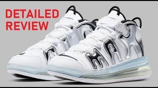NIKE AIR MAX 720 UPTEMPO METALLIC SILVER CHROME SNEAKER DETAILED REVIEW + FATHERS DAY VLOG