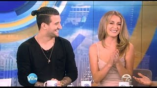 Alexa PenaVega & Mark Ballas - DWTS21 Exit Interview - The View