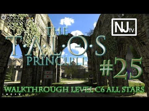 The Talos Principle Walkthrough Level C6 (1/1 Star + 1 Easter Egg)