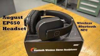 august ep650 bluetooth nfc wireless headphones