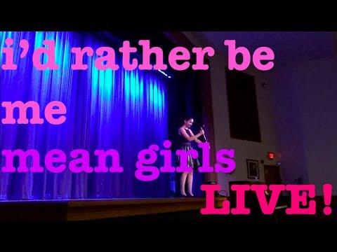i'd rather be me - mean girls (live!) || rachel zegler