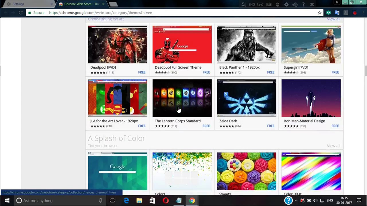 Google themes deadpool