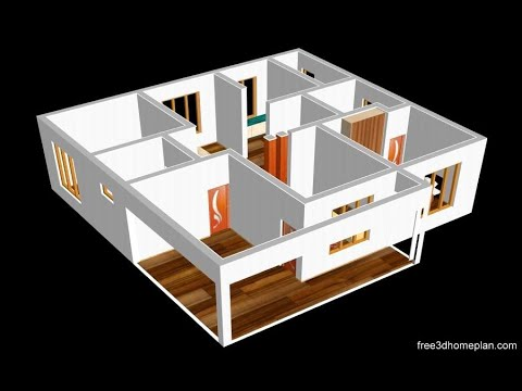 Small House Design Plan 11 X 10m 2 Bedroom With American Kitchen 2020