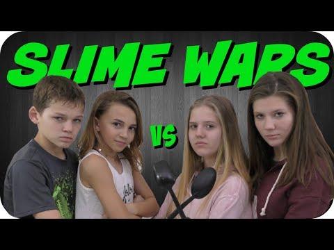 SLIME WARS CHALLENGE || WE ARE THE DAVISES VS TAYLOR AND VANESSA