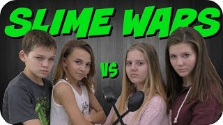 Video SLIME WARS CHALLENGE || WE ARE THE DAVISES VS TAYLOR AND VANESSA download MP3, 3GP, MP4, WEBM, AVI, FLV Agustus 2018