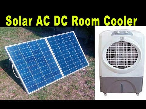 AC DC Room Cooler+Solar Panel Review+Price+Watts+amps Complete detail in Urdu Hindi