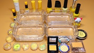 *YELLOW Collection* # Mixing Lip section,glitter Section and Nail section, Shadow Section into Slime