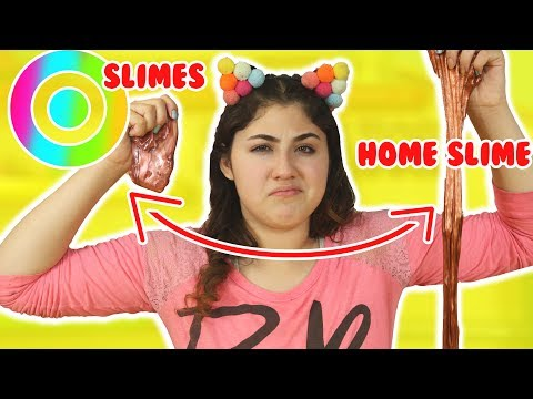 TARGET SLIMES VS HOME MADE SLIMES | Store slime review remaking store slimes | Slimeatory #202