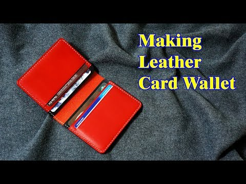 38 [Leather Craft] Making Leather Card Wallet / [가죽공예] 가죽 카드지갑 만들기 / FreePattern