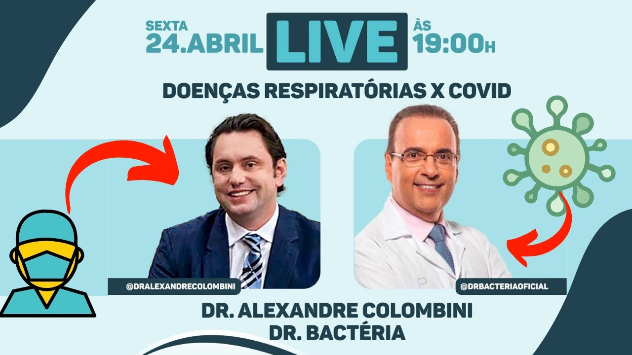 Live com o Dr. Bactéria - 24/04/2020