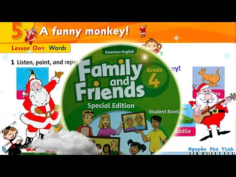 Trọn bộ Family and Friends 4 🎃🎈🍸 Unit 5 : A funny monkey! | Tiếng anh lớp 4