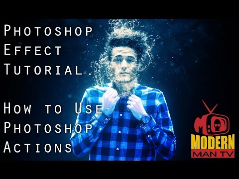 Photoshop Effect Tutorial I How To Use Photoshop Actions