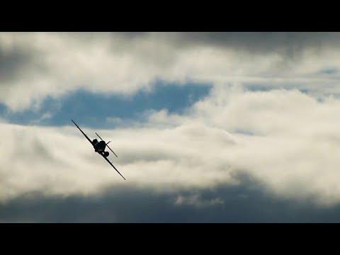 RNoAF DA-20 Falcon Jet over Stord Airport, sept 2012