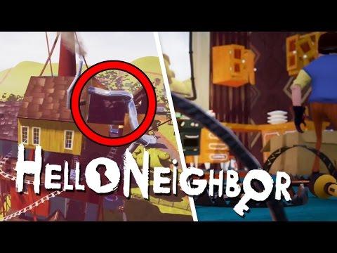 NEW HELLO NEIGHBOR ALPHA 4 GAMEPLAY | A SLIDE ON THE HOUSE!?