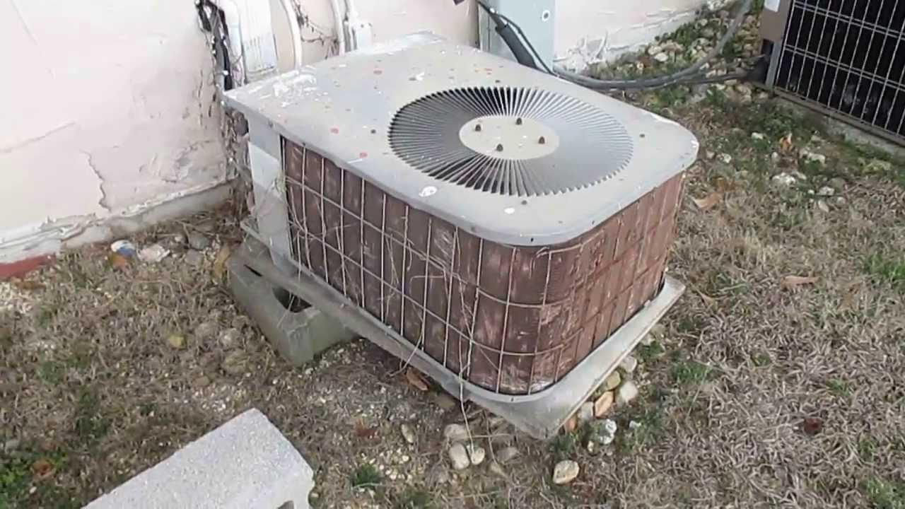 Old and Damaged Janitrol HVAC Unit - YouTube