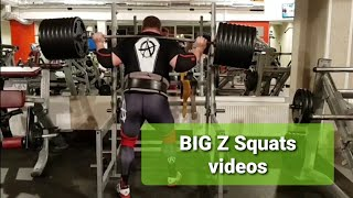 Big Z SQUATS VIDEOS