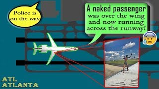 Male th Naked airport at