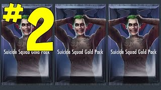OPENING SUICIDE SQUAD GOLD PACK part 2 | Injustice Gods Among Us (iOS/Android) Gameplay