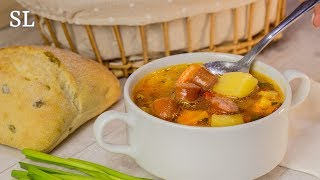 """Суп """"Охотник"""". Очень Вкусный Суп за 15 Минут! Рецепт."""