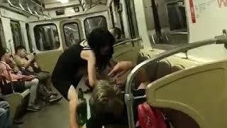 Пьяное быдло в Московском метро. Секс, наркотики и срам!