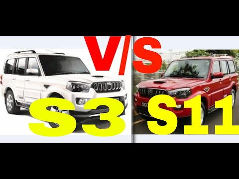 NEW MAHINDRA SCORPIO S3 V/S S11 2018 DIFFERENCES REVIEW SPECS PRICE DETAILS INTERIOR FEATURES