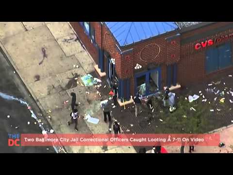 Two Baltimore City Jail Correctional Officers Caught Looting A 7 11 On Video