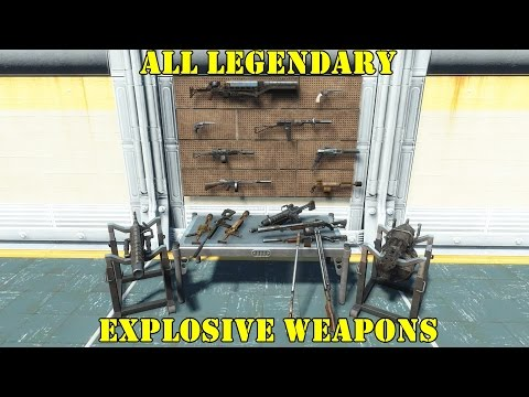 Fallout 4: All Legendary Explosive Weapons vs. Deathclaws