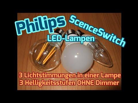 Philips SceneSwitch LED-Lampen - 3 Lichtstimmungen in einer Lampe ...