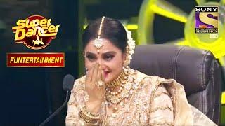 Rekha जी ने Enjoy किया 'Rang Barse' पे Performance! | Super Dancer | Funtertainment Performance