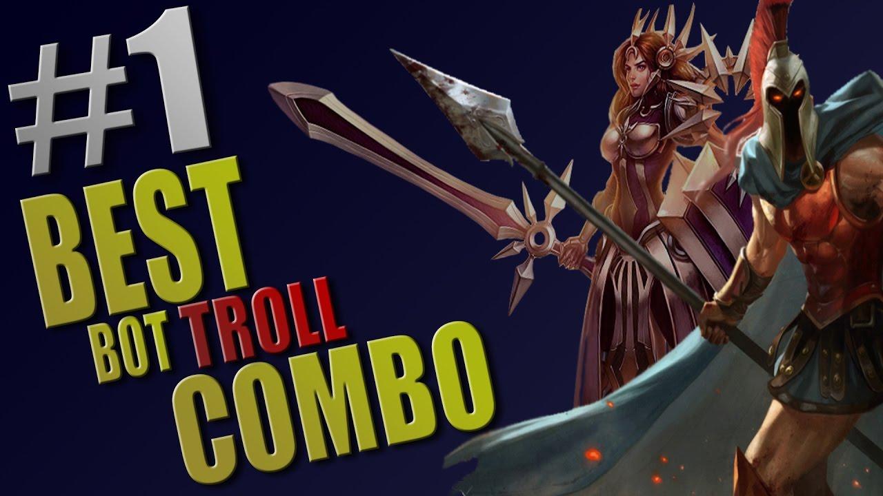 LoL - BEST BOT TROLL COMBO - #1
