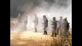British Army riot control training