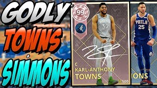 NBA 2K18 MYTEAM PINK DIAMOND KARL ANTHONY TOWNS & DIAMOND BEN SIMMONS GAMEPLAY! I CAN'T BELIEVE IT!