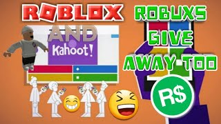 🔴500 ROBUXS GIVEAWAY/Kahoot And Roblox Live Stream #41🔴COME JOIN AND HAVE FUN